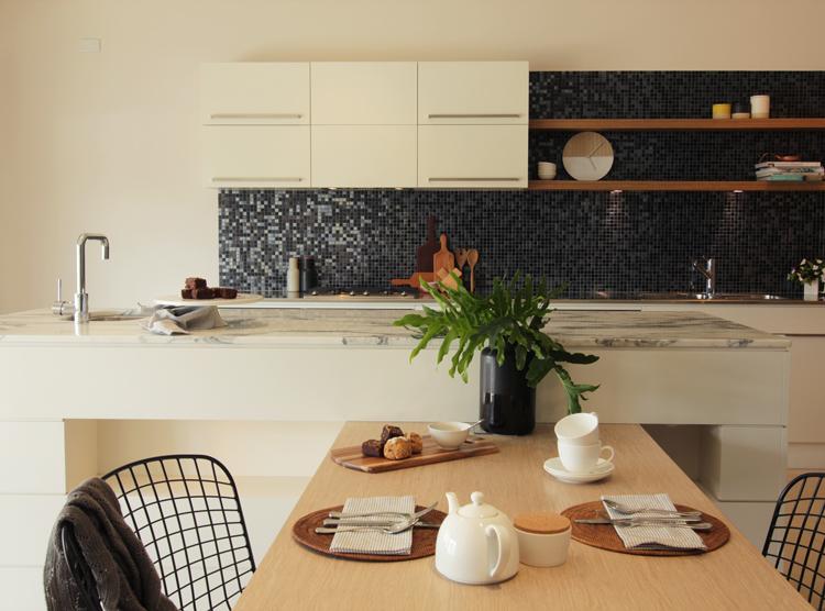 Brisbane kitchen showroom, marble benchtop, contemporary design, DbyD