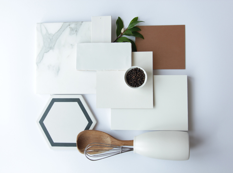 DbyD, interior design, finishes palette, clean crisp white finishes